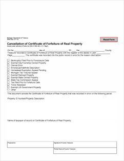 What Is A Certificate Of Forfeiture Of Real Property