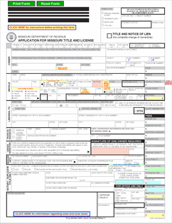Form 108 Fillable Application for Title and License - The Missouri ...