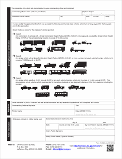 Form 5140 Fillable Application for Military Commercial Driver ...