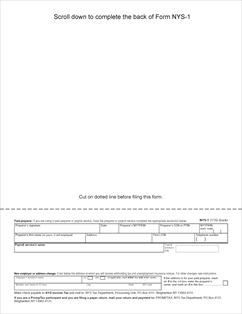 Form NYS-1 Fillable Return of Tax Withheld