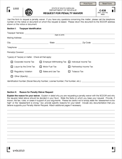 SalesUseTaxSC_c-530-_20140331_Page_1 Tax Penalty Waiver Application Form on free yoga, construction lien, personal injury, free printable lien, free medical, yoga class, contractor liability, simple lien,