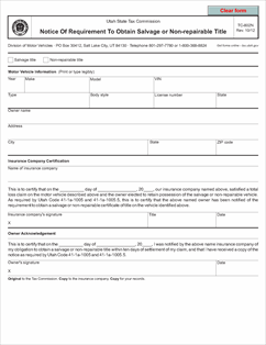 Form tc 802n fillable notice of requirement to obtain for Department of motor vehicles salt lake city utah