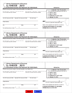 Printables 1040 Es Worksheet form il 1040 es 2013 estimated income tax payments for view all illinois