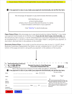 Form IL-1120-ST-V Payment Voucher for Small Business