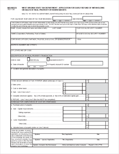 Virginia State Tax >> Form Nrer West Virginia State Tax Department Application For