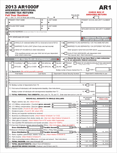 Form ar1000f fillable full year resident individual income tax return view all 2013 ar arkansas tax forms solutioingenieria Choice Image