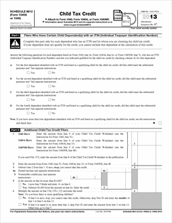 Printables Child Tax Credit Worksheet form 1040 schedule 8812 fillable child tax credit view all 2013 federal forms