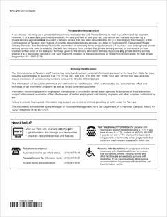Form Nyc 210 Fillable Claim For New York City School Tax Credit
