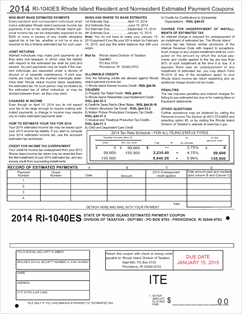 Printables 1040 Es Worksheet form 1040es instr fillable 2014 1040 estimated tax return with download view all 2013 ri rhode island forms