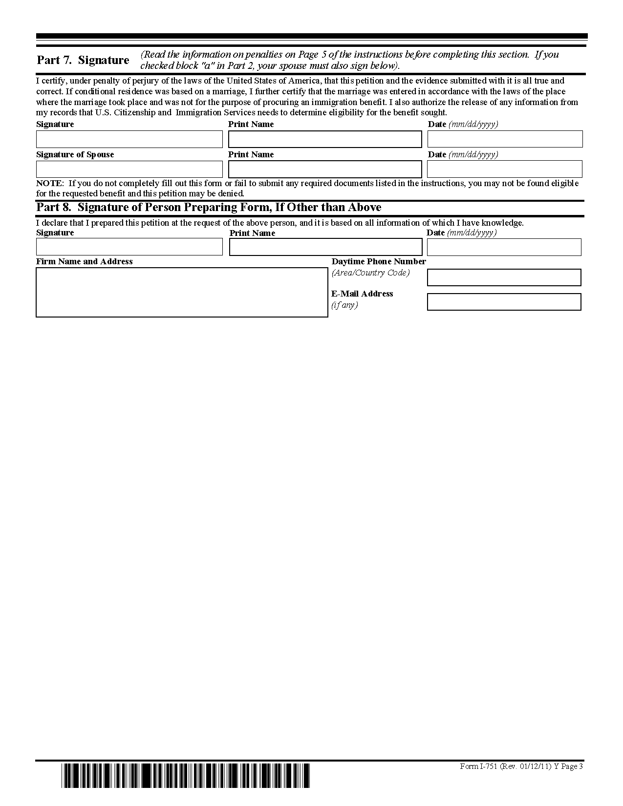 Download Form I 751 View All US Citizenship And Immigration Services