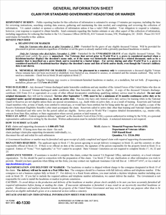 FederalVA_VA40-1330_20131003_Page_1 Va Marker Application Form on qa forms, qc forms, af forms, usda rd forms, printable dental charting forms, gp forms, veterans administration forms, hud forms, pf forms, appeal property forms,