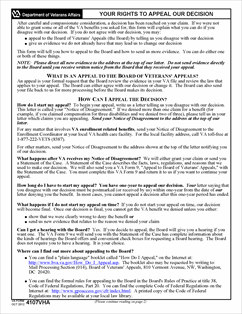 Form VA-4107VHA Your Rights To Appeal Our Decision