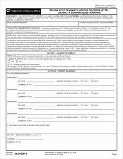 Form 21-0960P-3 Review Post Traumatic Stress Disorder (PTSD ...