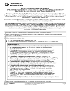 Form 21-526EZ Application for Disability Compensation and Related ...