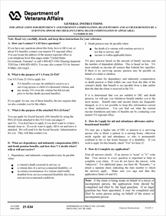 Form 21-534 Appl. for DIC, Death Pension & Accrued Benefits by ...