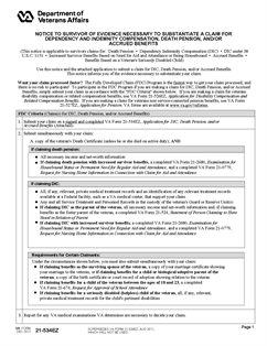 Form 21-534EZ Application for DIC, Death Pension, and/or Accrued ...