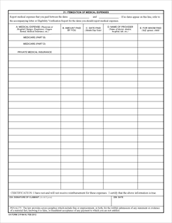 Form 21P-8416 Medical Expense Report