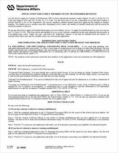 Form 22-1990e Application for Family Member to Use Transferred ...