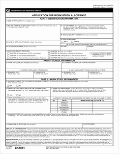 Form 22-8691 Application for Work-Study Allowance