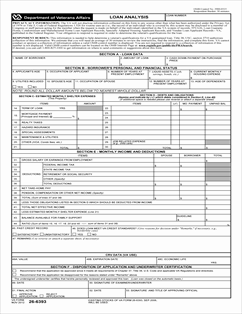 FederalVA_VBA-26-6393-ARE_20121114_Page_1 Va Loan Application Form on free personal, printable buiness, uniform residential, sample small, bank america car, printable business, free print,
