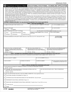 Form 28-8832 Education/Vocational Counseling Application