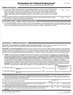 Form OF-306 Declaration for Federal Employment