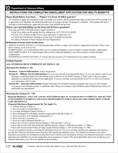 Form 10-10EZ APPLICATION FOR HEALTH BENEFITS - Print and fill out ...
