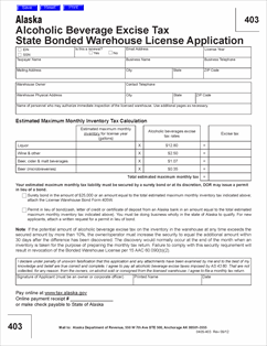 Form 403 State Bonded Warehouse License Application Fill In