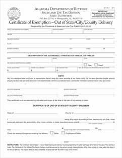 Form ST-EX-1 Fillable Certificate of Exemption - Out of State/City ...