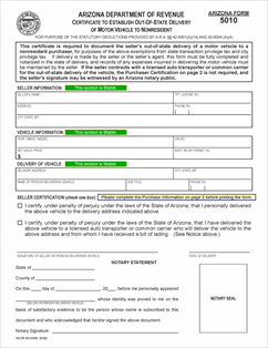 arizona motor vehicle division forms