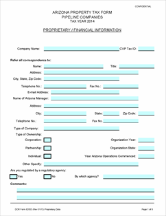 Form 82053 Fillable Pipeline Companies Reporting Form