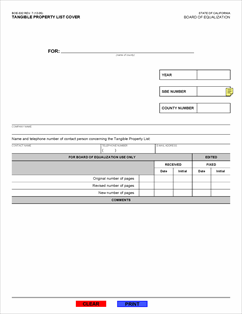 California Board Of Equalization Property Tax Forms