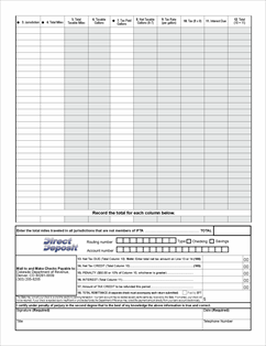 Form DR 0122 Fillable Reporting Form -- International Fuel Tax ...