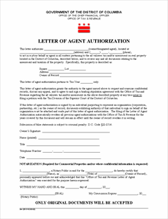 Form Auth-Agent Fillable Letter of Agent Authorization