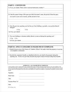Form FP-161 Fillable Exempt Property Use Report
