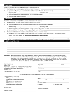 Form DR-1214 Fillable Application for Temporary Tax Exemption ...
