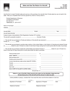 Form DR-15AIR Fillable Sales and Use Tax Return for Aircraft N.08/13