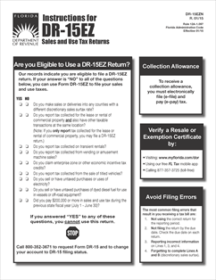 Form DR-15EZN Fillable Instructions for DR-15EZ Sales and Use Tax ...