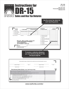 Form DR-15N Fillable Instructions for DR-15 Sales and Use Tax ...