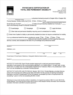 Form DR-416 Fillable Physician's Certification of Total and ...