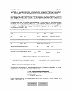 Form mv 603 fillable abandoned mv notice for Oklahoma tax commission motor vehicle division phone number