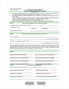 SalesUseTaxGA_MV_One_and_the_Same_Affidavit_Form_T227_20050802_Page_1 ...