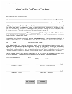 Georgia+Tax+Sale+List GEORGIA MV 1 TITLE APPLICATION FORM