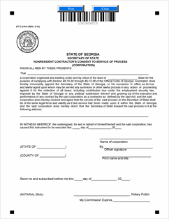 Form ST-C 214-8 NONRESIDENT CONTRACTORS CONSENT TO SERVICE OF ...
