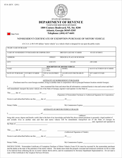 Form ST-8 Fillable Motor Vehicle - Non-Resident Purchaser ...