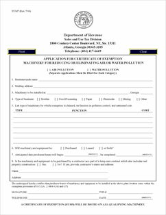 Form ST-M7 Fillable Pollution Machinery Exemption Application (rev ...