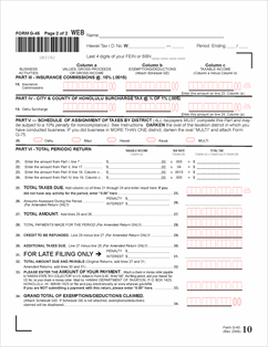 Form G-45 Fillable Periodic General Excise / Use Tax Return (Rev ...