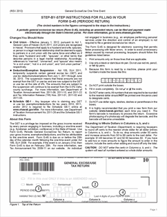 Form G-45 OT Fillable Instructions for filing a ONE TIME USE ...