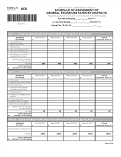 Form G-75 Fillable Assignment of General Excise/Use Tax by ...