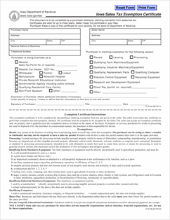 Form 31-014 Fillable Sales Tax Exemption Certificate
